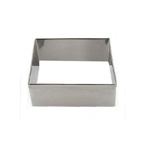 Aro cortador quadrado de inox n5 - 7,4 x 4 cm Doupan