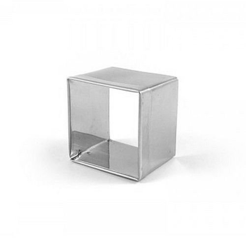Aro cortador quadrado de inox n3 - 4,6 x 4 cm Doupan