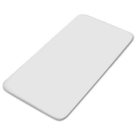 Placa de corte 50 x 30 cm Pronyl branca lisa