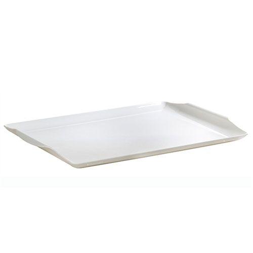 Bandeja square 34,5 x 22,8 cm Vemplast branca