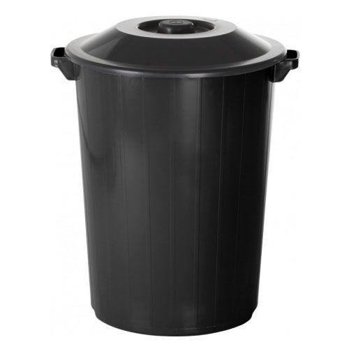 Lixeira Recycle 35 Litros Preta Plasvale