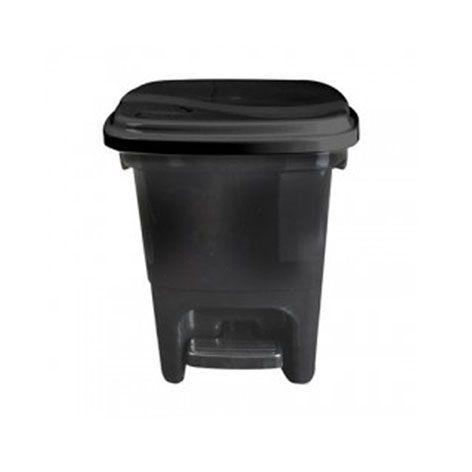 Lixeira com pedal 15 litros preta Plasvale