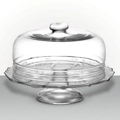 Boleira de vidro com tampa G Luvidarte