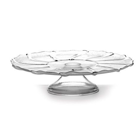 Prato para bolo de vidro com pé - Luvidarte