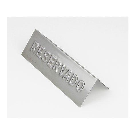 """Placa de inox para mesa """"reservado"""" Alissan"""