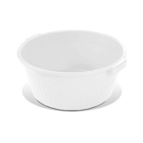 Bacia canelada 34 litros Plasvale branca
