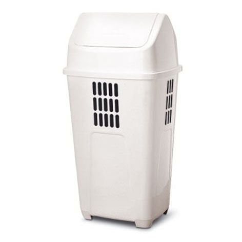 Lixeira basculante 50 litros Plasvale branca