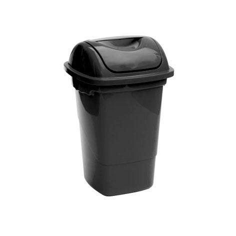 Lixeira basculante 30 litros Plasvale preta
