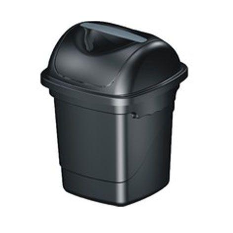 Lixeira Basculante 10 litros Plasvale preta