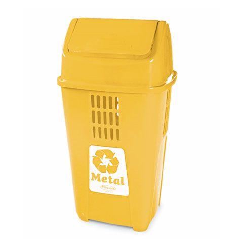Lixeira seletiva para metal 50 Litros - Plasvale