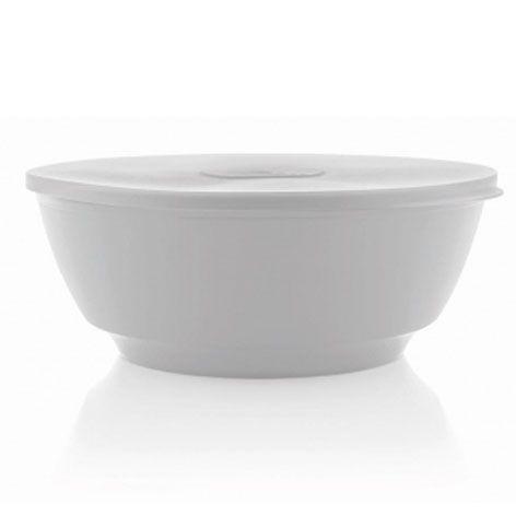 Saladeira Luna branca 5 litros com tampa - Ou
