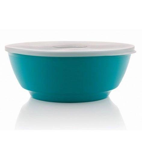 Saladeira Luna azul 3,5 litros com tampa - Ou