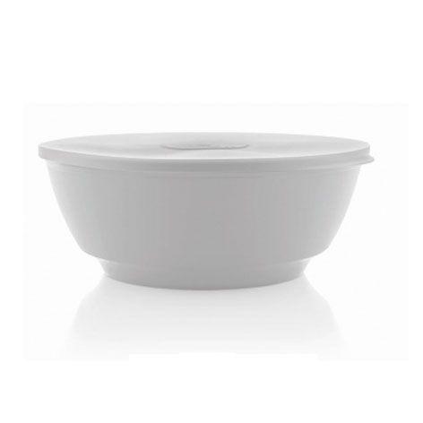 Saladeira Luna branca 1,8 litros com tampa - Ou