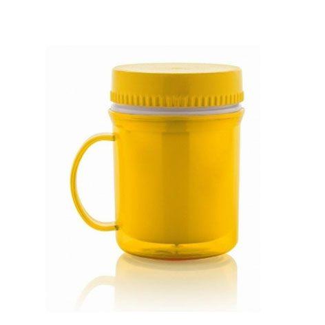 Caneca Térmica Hermética Amarela - Ou