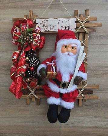 Papai Noel Tradicional 50cm no Quadro Vicentin