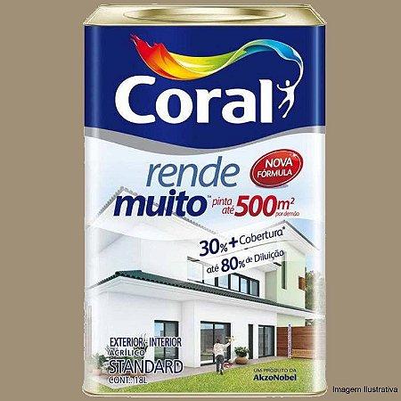 Tinta Acrílica Fosco Rende Muito Standard Branco Neve 18L Coral