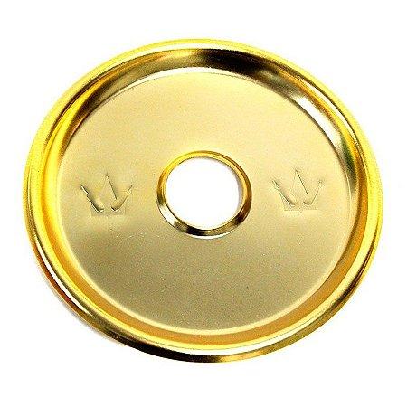 Prato Hookah King Royal Dourado