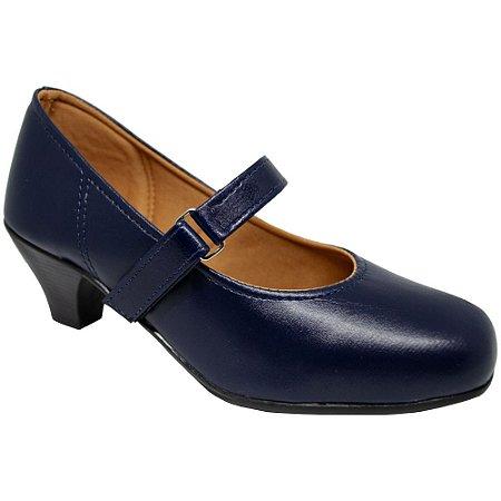 Sapato Social Salto Azul Marinho