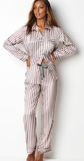 VICTORIA'S SECRET Pijama Cetim Listrado
