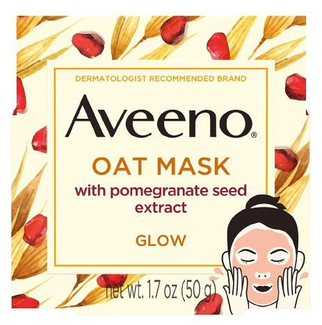 AVEENO Oat Face Mask With Pomegranate Seed For Glowing Skin
