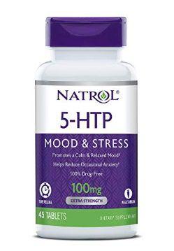 NATROL 5-HTP Time Release tablets, 100mg - 45 cápsulas