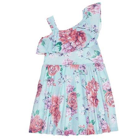 Vestido Floral Verde - Trenzinho