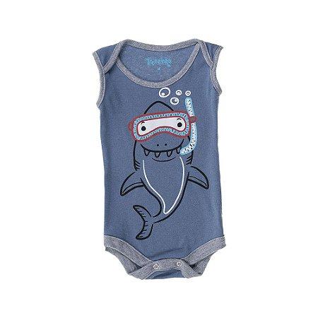 Body Regata Shark Baby - Azul