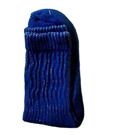 Meia aeróbica cano curto azul