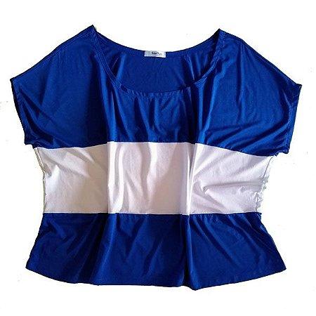 Bata Azul/Branca Plus Size