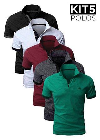 Kit 5 Camisas Polo – XK215