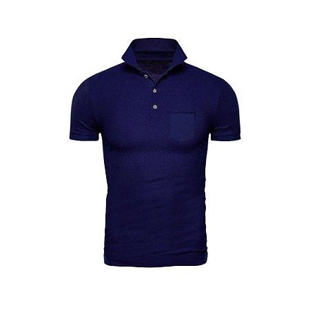 Camisa Polo Phox Premium com bolso Azul Marinho - 1010-13