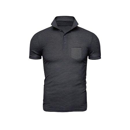 Camisa Polo Phox Premium com bolso Cinza Escuro - 1010-14