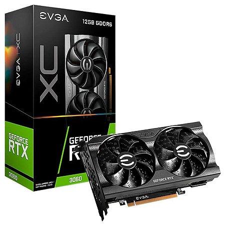 Placa de Vídeo NVIDIA GeForce EVGA RTX 3060 XC GAMING 12GB GDDR6 Dual Fan 192BIT 1 HDMI, 3 DP