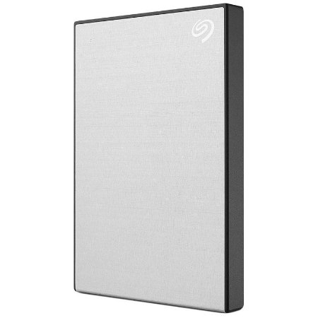 HD Externo Portátil Seagate 2TB USB 3.0 Backup Plus Slim Prata