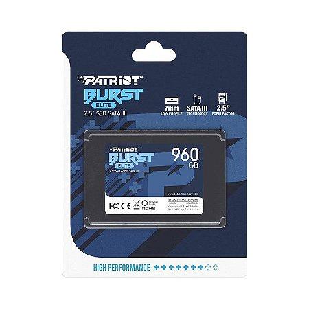 """SSD Patriot 960GB 2,5"""" SATA 6 Gb/s Burst Elite"""