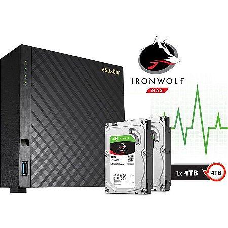 Storage NAS Asustor 4 Baias AS3104T4000 Celeron Dual Core 1,6 GHz - 4TB