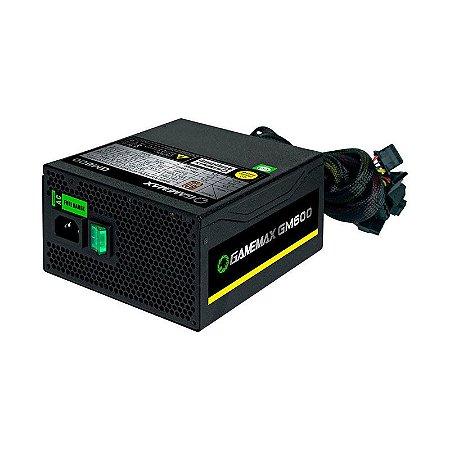 Fonte Gamemax 600W Reais 80Plus Bronze GM600