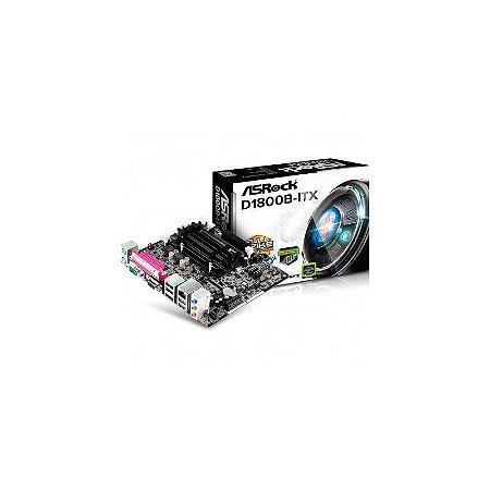 Placa Mãe ASRock D1800B-ITX Com Processador Integrado Intel J1800
