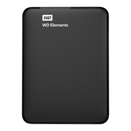 HD Externo Portátil WD 2TB USB 3.0 Elements Preto
