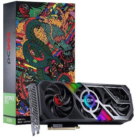 Placa de Vídeo NVIDIA GeForce PCYES RTX 3080 10GB Triple Fan GDDR6X 320BIT HDMI, 3X DP