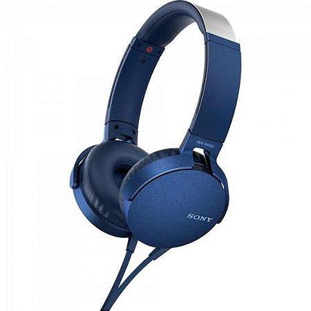 Fone de Ouvido com Microfone MDR-XB550AP/L Azul SONY