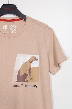 camiseta cachorro caramelo