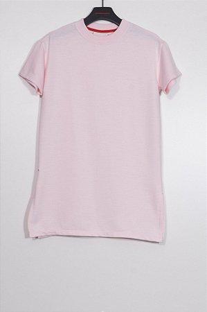 vestido moletom stamp rosa