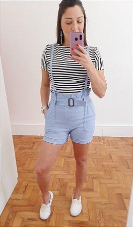 Shorts com suspensório feminino