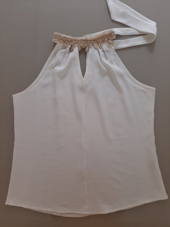 Blusa Gola Alta - Amarela / Branca