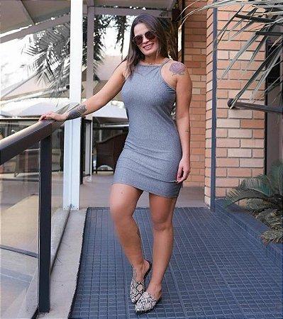 Vestido Tubinho - Nadador - Preto | Cinza