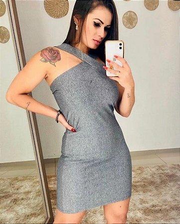 Vestido Tubinho - Cinza