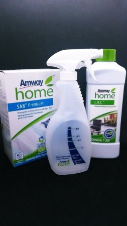 Loc Limpador 1x + Frasco Amway Spray + Sa8 Roupas E Tecidos