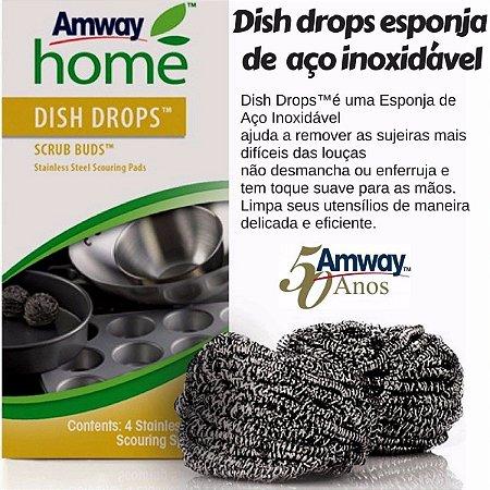 Dish Drops Scrub Buds Esponja De Aço Inoxidável - Qualidade