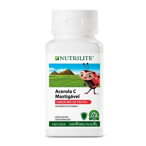 Acerola  - Suplemento De Vitamina C Mastigável Nutilite Orgânico 100%